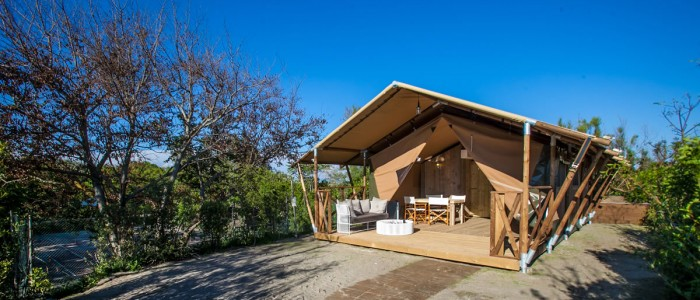 glamping auf il campeggio di capalbio toskana italien direkt am meer campingdreams. Black Bedroom Furniture Sets. Home Design Ideas