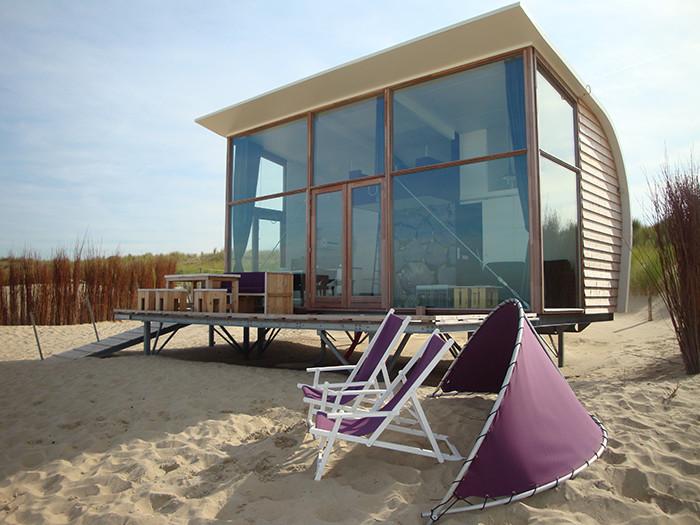 bijzondere panorama huisjes op het strand in zeeland op strandcamping groede campingdreams. Black Bedroom Furniture Sets. Home Design Ideas
